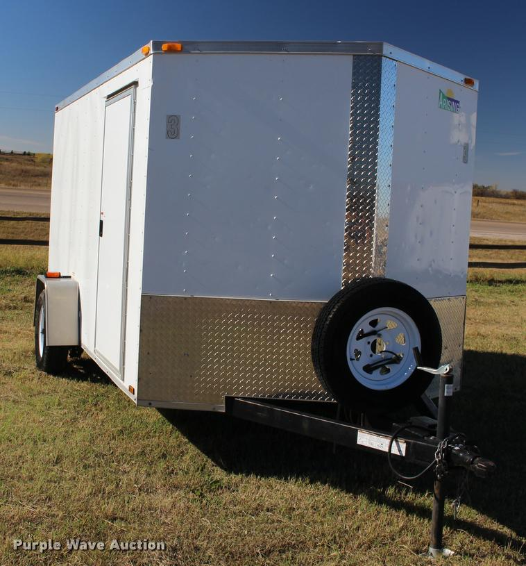 2013 Arising 712VSRW enclosed cargo trailer