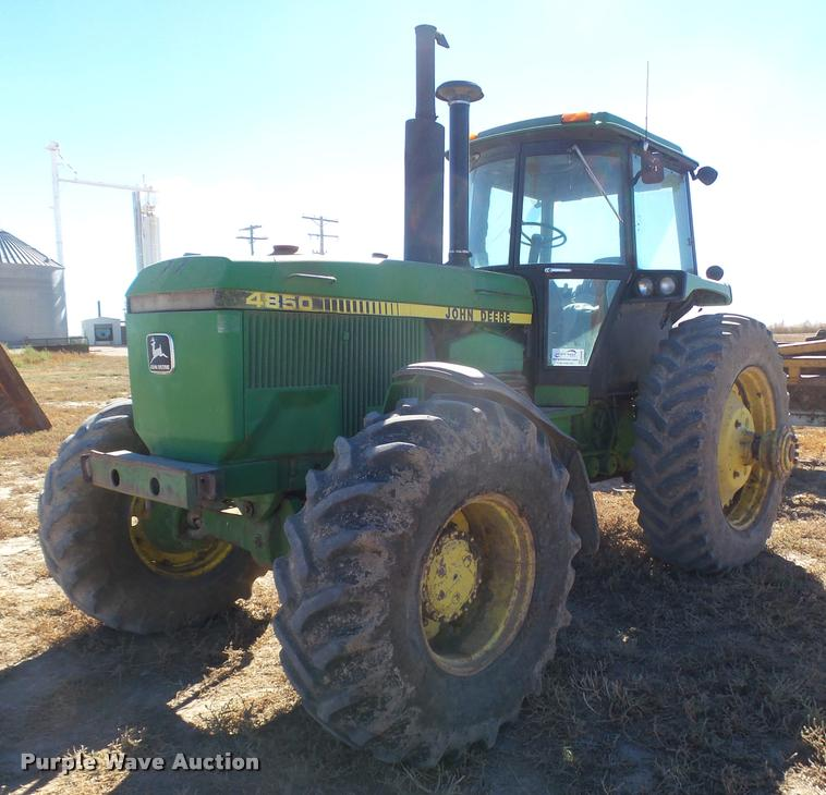 ag equipment auction in leon by purple wave auction 1984 john deere 4850 mfwd tractor