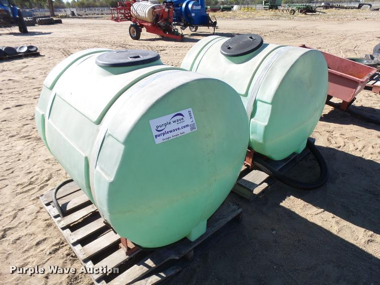 (2) poly tanks