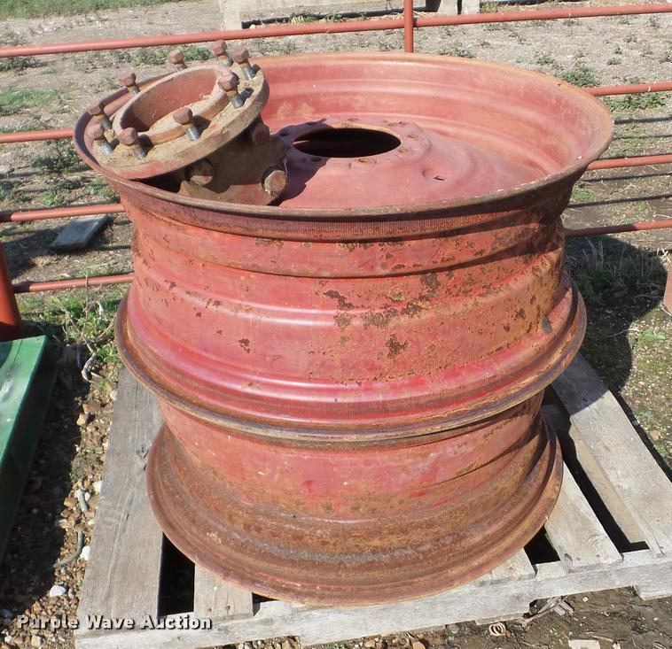 (2) International 14x34 tractor wheels