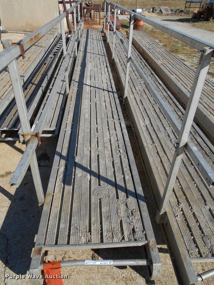 (2) aluminum scaffold planks