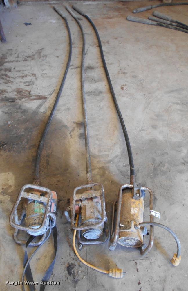 (3) concrete vibrators/whips