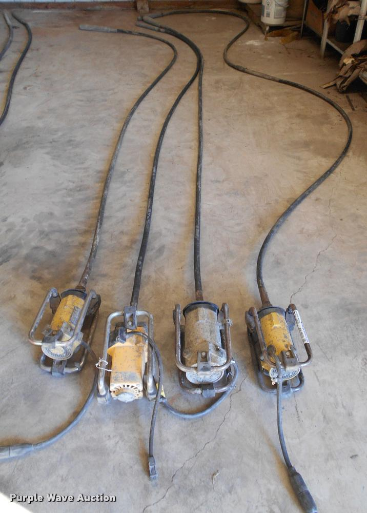 (4) concrete vibrators/whips