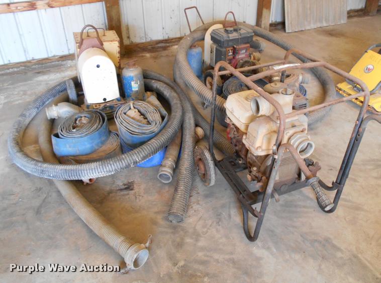 (3) trash pumps