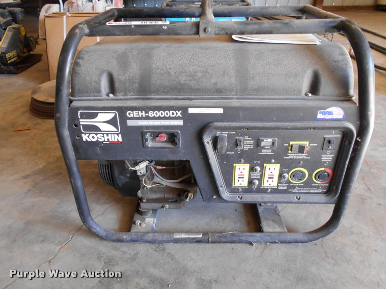 Koshin GEH-6000DX generator