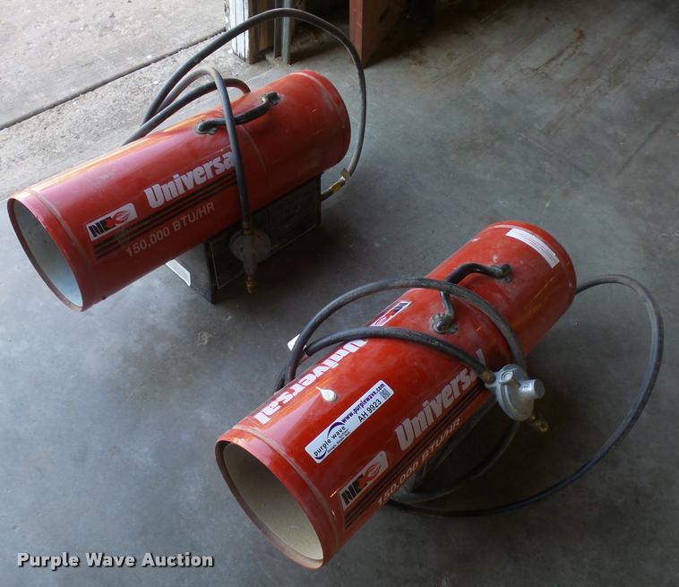 (2) Universal propane heaters