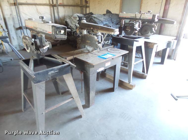 (4) radial saws