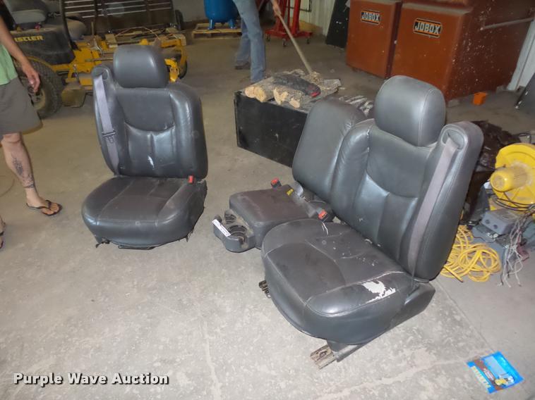 Chevrolet vinyl pickup truck front seats