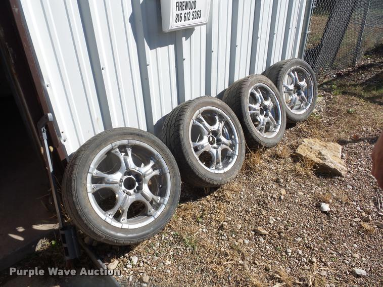 (4) 245/55ZR17 tires and wheels
