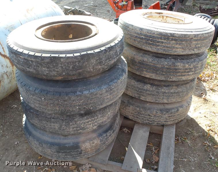 (8) 8.25R15 tires and wheels