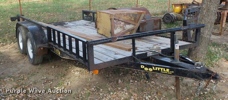 2011 Doolittle equipment trailer