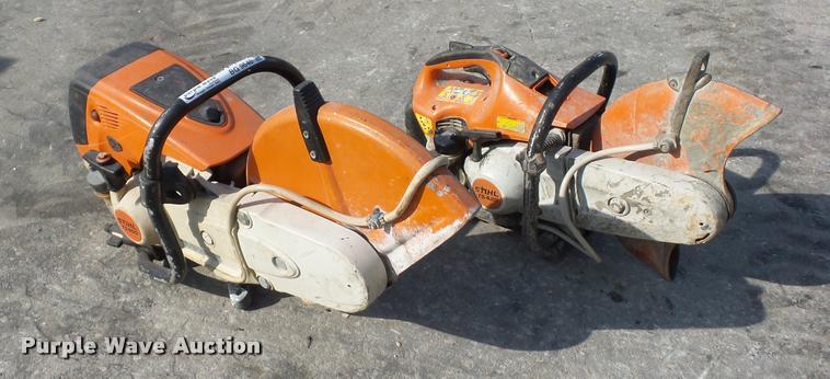 (2) Stihl concrete saws