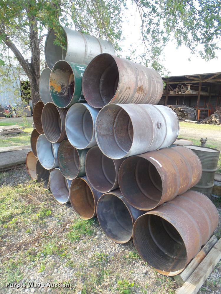 (19) 55 gallon metal barrels