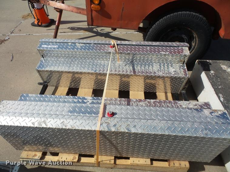 (2) tread plate toolboxes