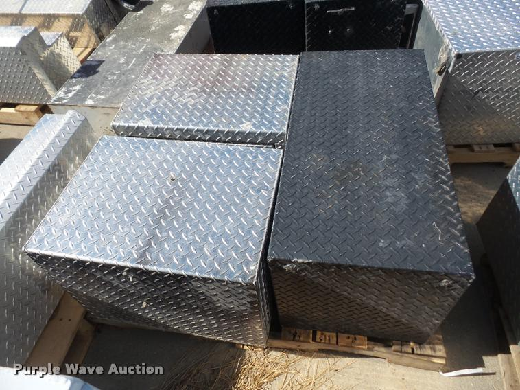 (3) tread plate toolboxes