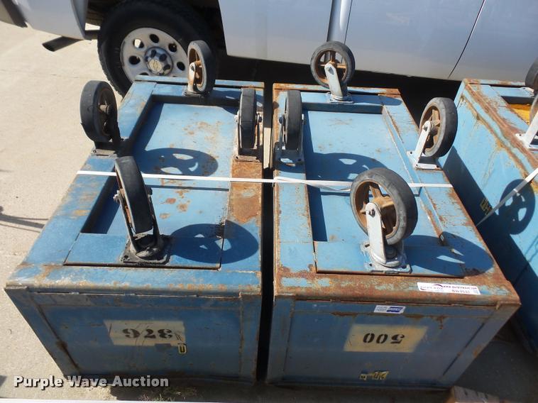 (2) material carts