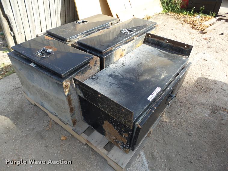 (4) Dutec under bed toolboxes