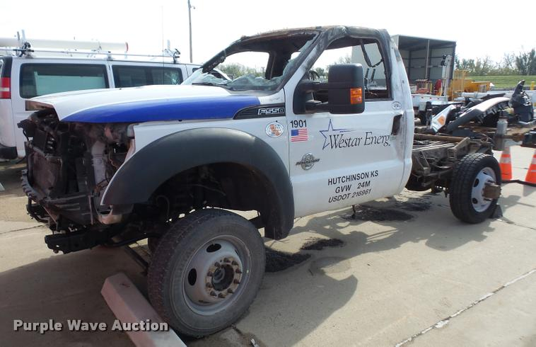 2012 Ford F550 truck cab and chassis