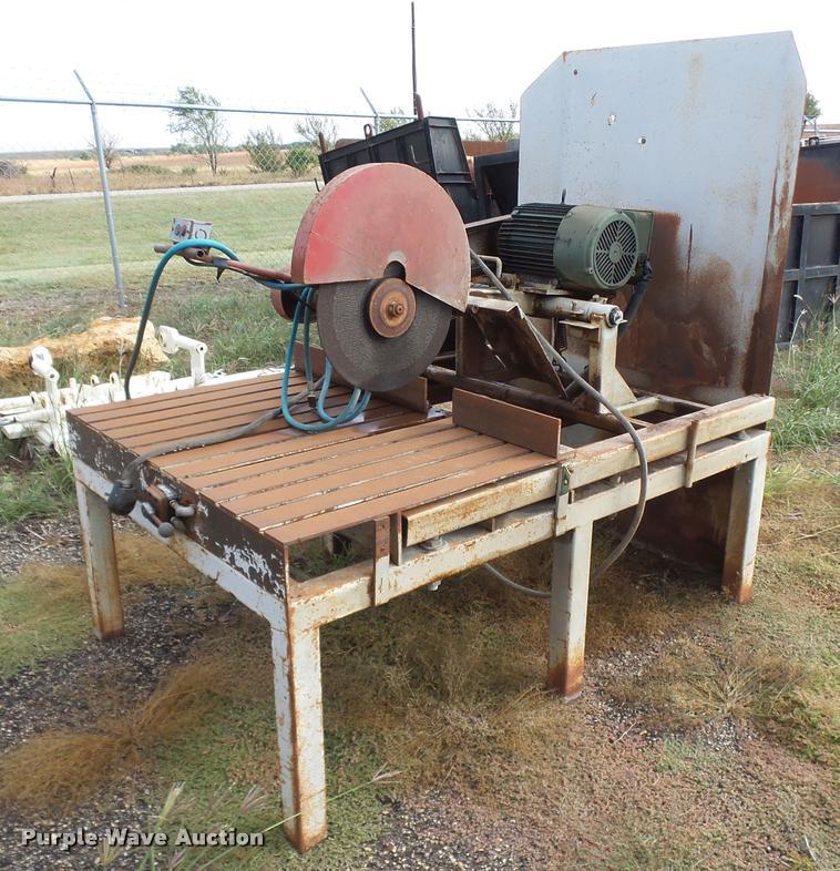 Shop built metal chop saw