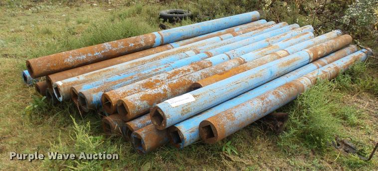 (23) pieces of steel round tubing