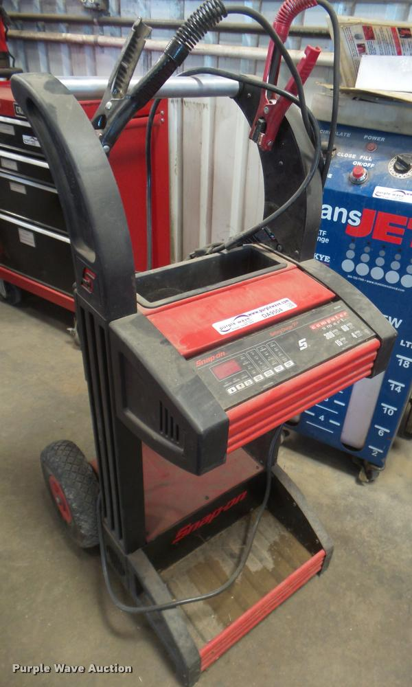 Snap-on battery charger