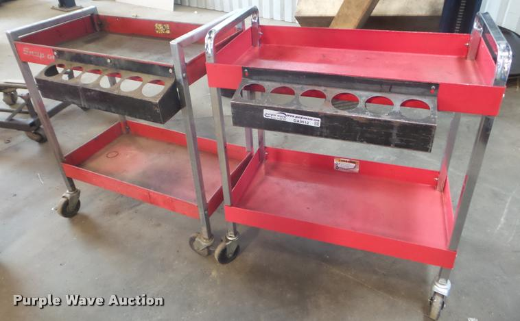 (2) Snap-On tool carts