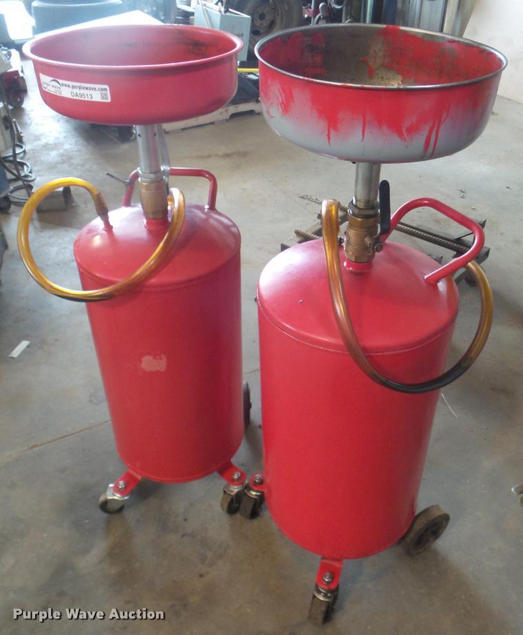 (2) fluid drain tanks