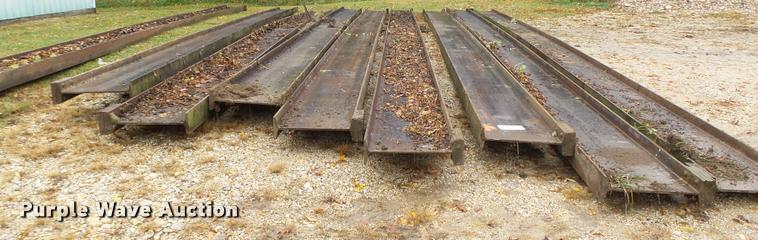 (9) steel I-beams