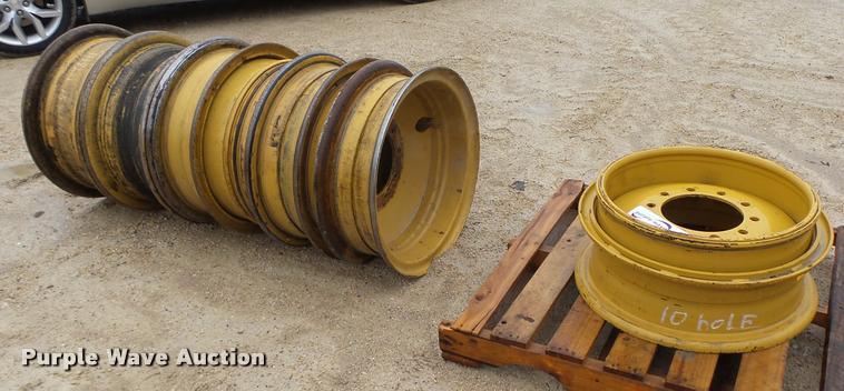 (6) Caterpillar 140H wheels