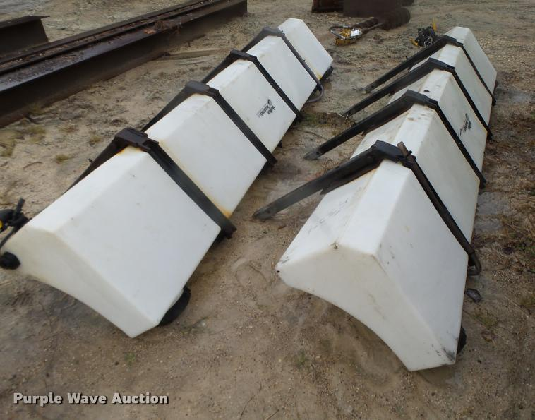 (2) Varitech Industries calcium chloride poly tanks