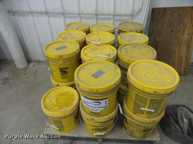 (23) buckets of Increte color hardner
