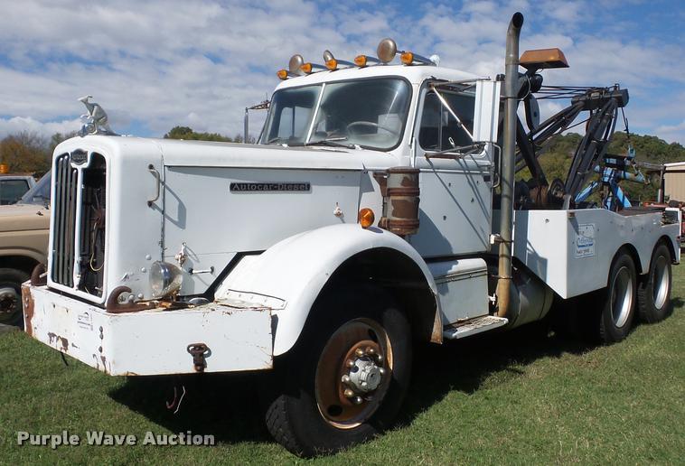 1965 Autocar tow truck