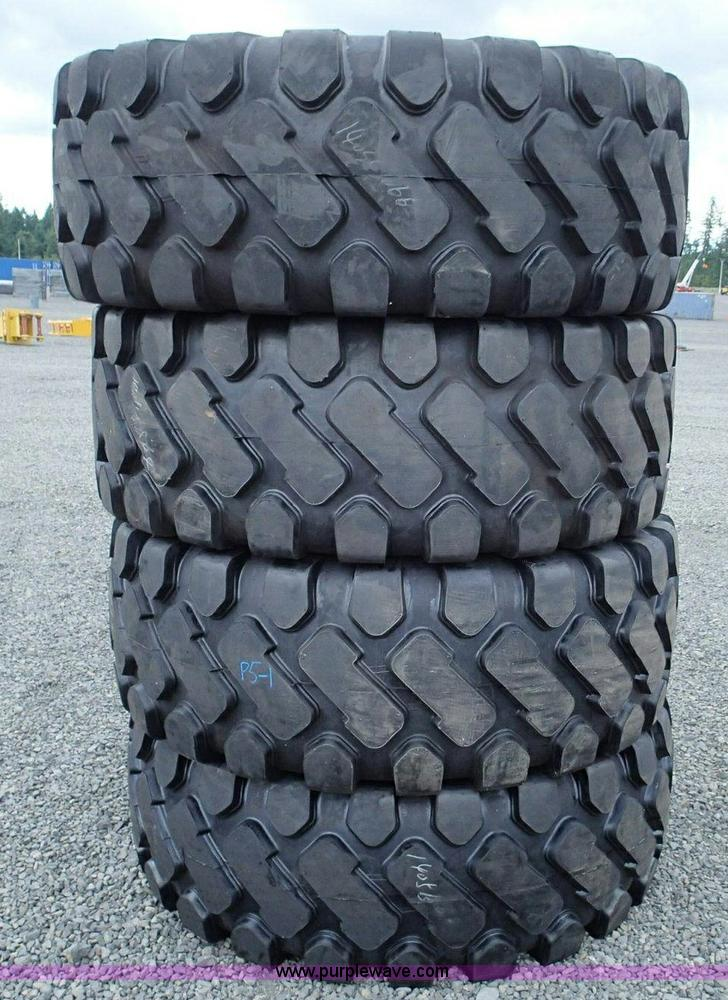(4) 23.5-25 tubeless tires