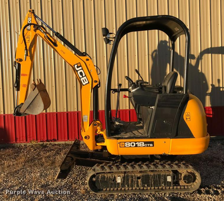 2015 JCB 8018 CTS compact excavator