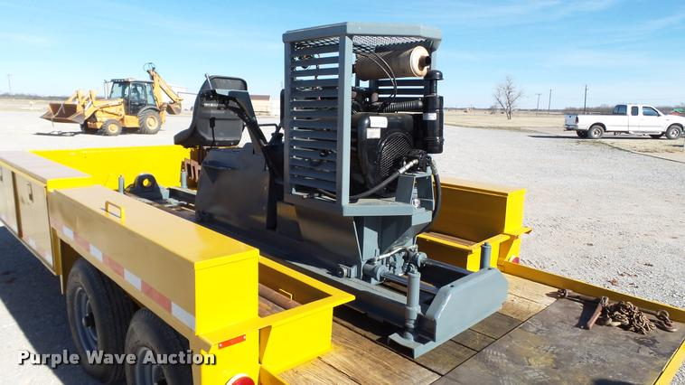 Shop built horizontal drill and customized trailer