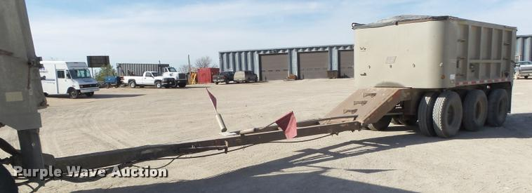 2000 East 800R end dump pup trailer