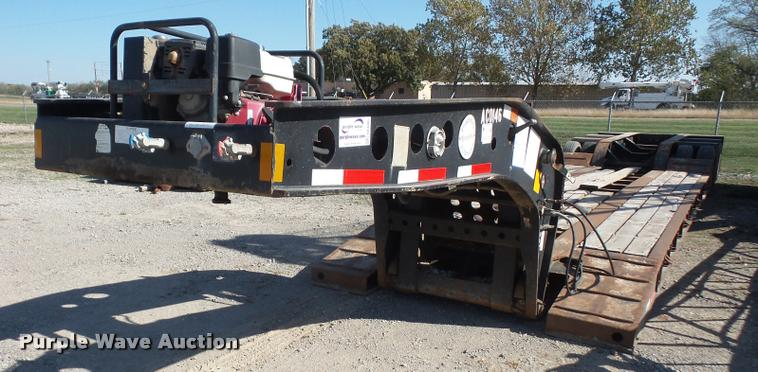 1997 Fontaine TB50NGB lowboy equipment trailer