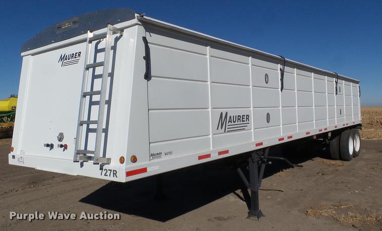 2017 Maurer 4022 double hopper grain trailer