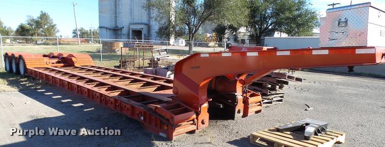 1997 Landoll 327-48 lowboy equipment trailer