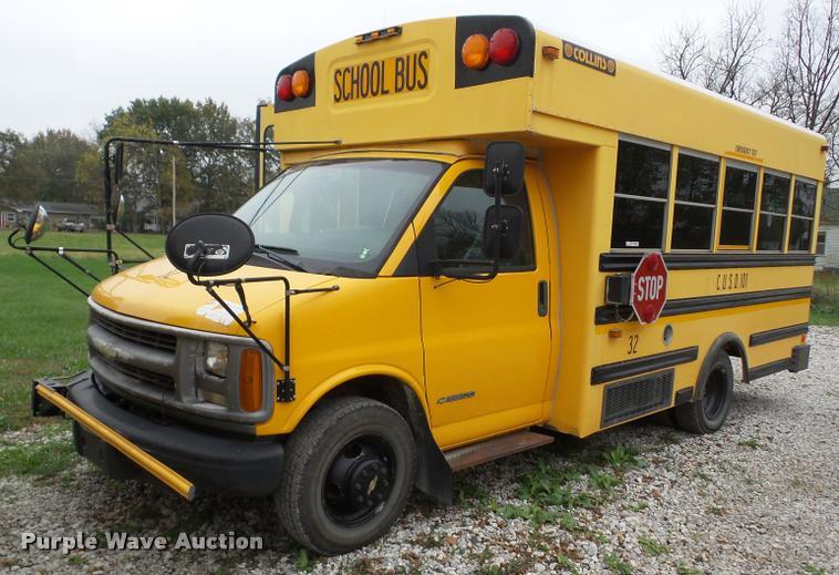 2002 Chevrolet Express G3500 school bus