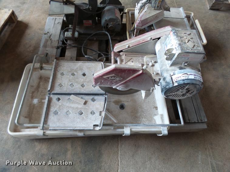 (2) MK tile saws