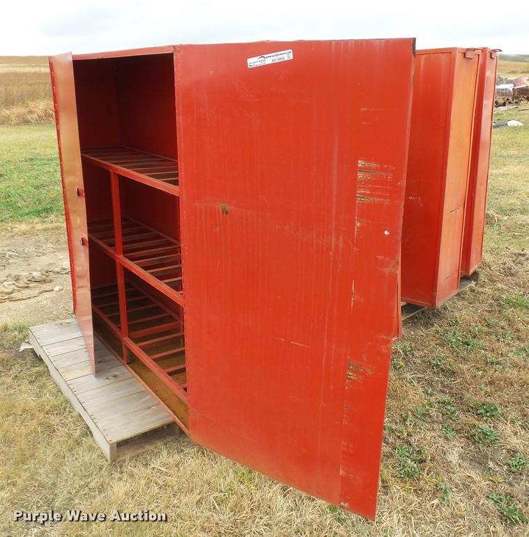(5) metal cabinets