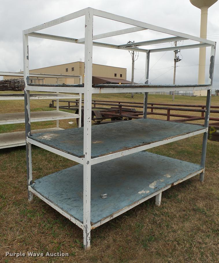 (2) steel shelves