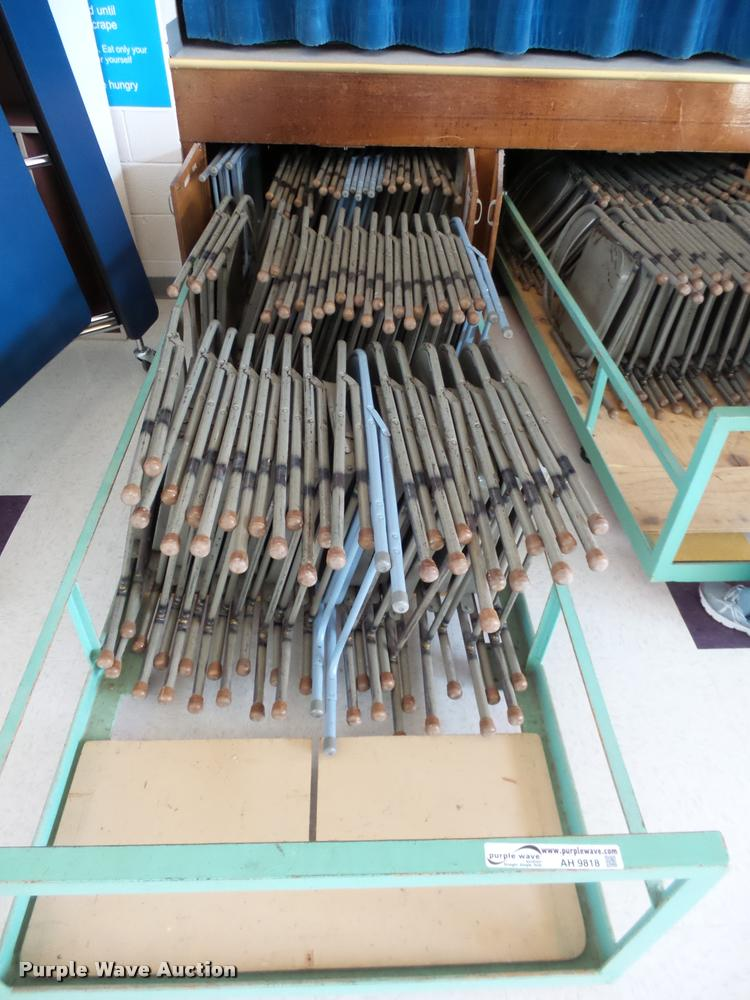Approximately 150 metal folding chairs