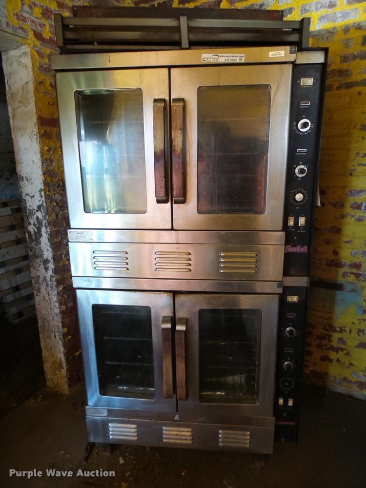 Vulcan Snorkel stainless steel double deck oven