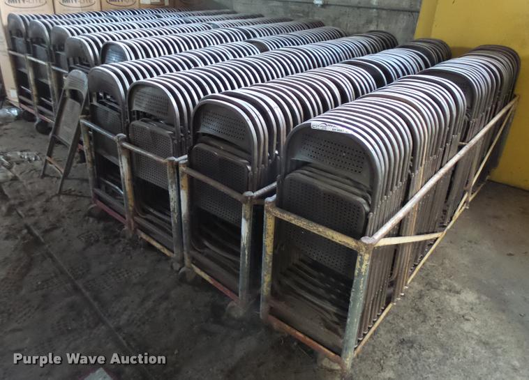 Approximately 500 metal folding chairs
