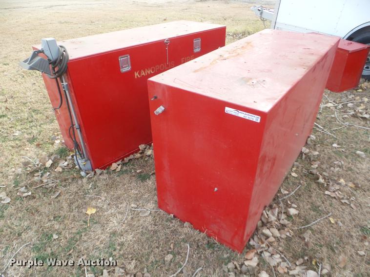 (2) storage boxes