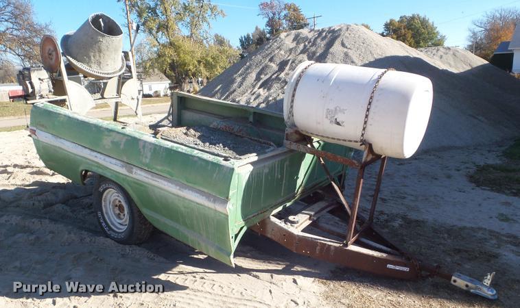 Shop built concrete mixer trailer