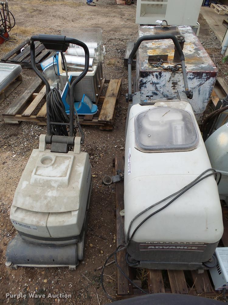 (2) commercial floor scrubbers