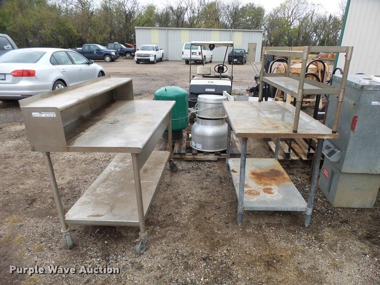 (3) commercial kitchen prep tables